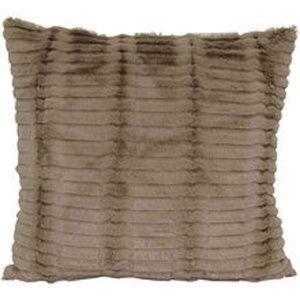 4 - Cut Fur Taupe Pillows